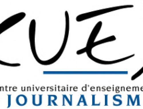 Interview au Centre Universitaire d'Etudes de Journalisme (CUEJ)